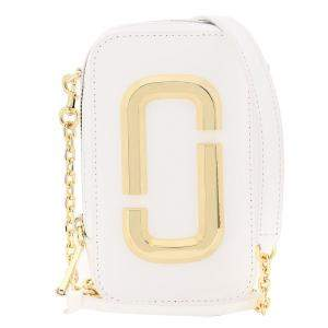 Marc Jacobs White Leather Snapshot Camera Bag