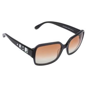 Marc by Marc Jacobs Grey Crystal Embedded/ Pink Gradient MMJ 053/S Square Sunglasses