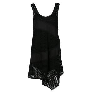 فستان مارك باي مارك جاكوبس يوكي جيرسيه أسود بفتحات حافة غير متساوية S