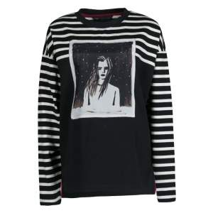 Marc by Marc Jacobs Monochrome Striped  Dreamy Rhea Print Sweatshirt L