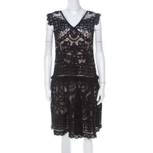 Marc by Marc Jacobs Black Crochet Lace Sleeveless Short Dress M