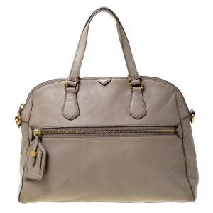 Marc by Marc Jacobs Light Beige Leather Satchel