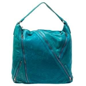 حقيبة مارك باي مارك جاكوبس سحاب ليولا جلد أزرق
