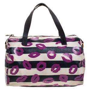 Marc By Marc Jacobs Multicolor Coated Canvas Easy Lips Bowler Bag