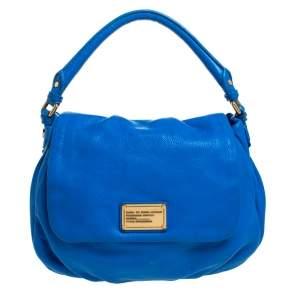 حقيبة يد علوية مارك باي مارك جاكوبس كلاسيك كيو ليل جلد زرقاء