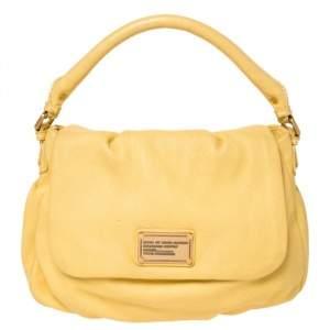 """حقيبة مارك باي مارك جاكوبس """"كلاسيك كيو ليل يوكيتا"""" يد علوية جلد أصفر"""