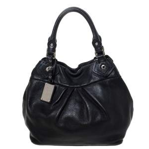 Marc by Marc Jacobs Black Leather Classic Q Fran Hobo