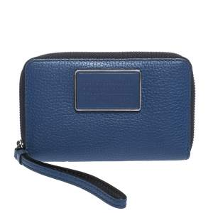 Marc by Marc Jacobs Blue Leather Classic Q Wingman Wallet