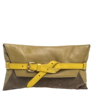 Marc by Marc Jacobs Tri Color Leather and Suede Clutch