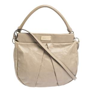 Marc by Marc Jacobs Beige Leather Classic Q Hillier Hobo