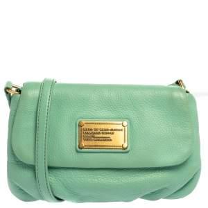 Marc by Marc Jacobs Mint Green Leather Classic Q Karlie Shoulder Bag
