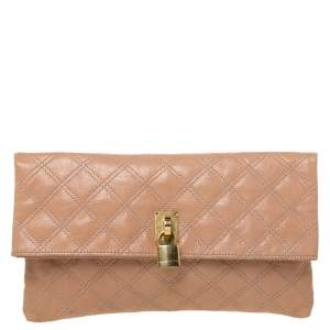 Marc by Marc Jacobs Beige Leather Eugenie Clutch