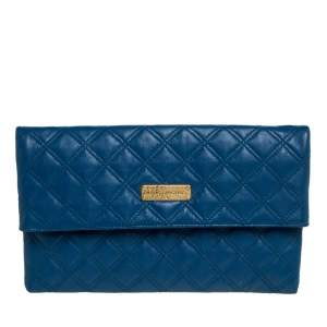 Marc by Marc Jacobs Blue Quilted Leather Large Eugenie Clutch