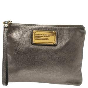 Marc by Marc Jacobs Metallic Leather Wristlet Clutch