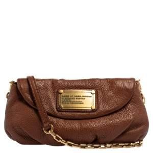 Marc by Marc Jacobs Brown Leather Mini Classic Q Natasha Crossbody Bag