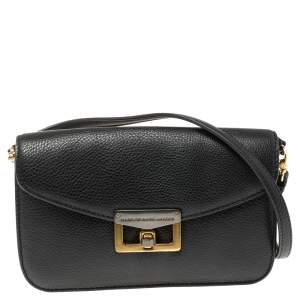 Marc by Marc Jacobs Black Leather Bianca Jane On A Leash Crossbody Bag