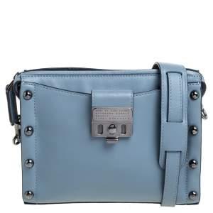 Marc by Marc Jacobs Blue Leather Espionage Shoulder Bag