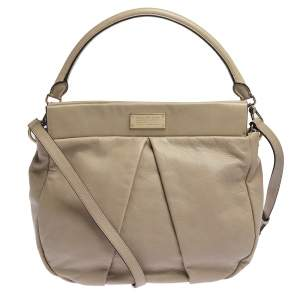 Marc by Marc Jacobs Beige Leather Marchive Hilli Hobo