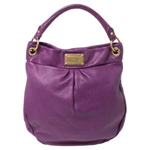 Marc by Marc Jacobs Purple Leather Classic Q Hillier Hobo