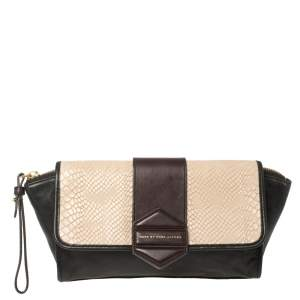 Marc By Marc Jacobs Tri Color Leather Flipping Out Clutch