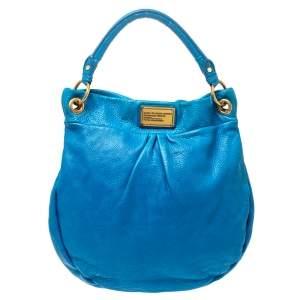 """حقيبة هوبو مارك باي مارك جاكوبس """"كلاسيك كيو هيلير"""" جلد أزرق"""
