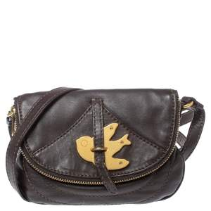 Marc by Marc Jacobs Brown Leather Petal to the Metal Crossbody Bag