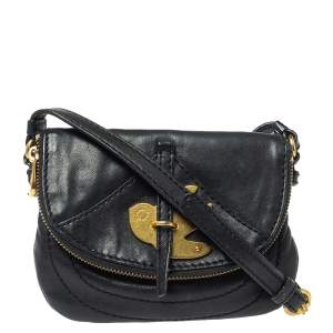 Marc by Marc Jacobs Black Leather Petal to the Metal Crossbody Bag