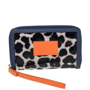 Marc by Marc Jacobs Multicolor Coated Canvas and Leather Zip Around Wallet