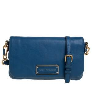 Marc Jacob's Blue Leather Too Hot To Handle Crossbody Bag