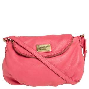 Marc by Marc Jacobs Coral Pink Leather Classic Q Natasha Crossbody Bag