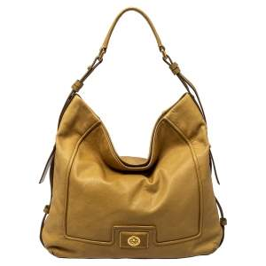 Marc by Marc Jacobs Beige Leather Revolution Hobo