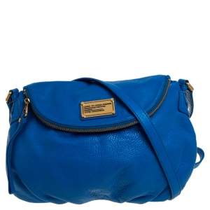 Marc by Marc Jacobs Blue Leather Classic Q Natasha Crossbody Bag