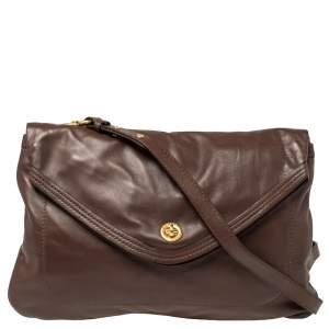 Marc by Marc Jacobs Brown Leather Flap Shoulder Bag