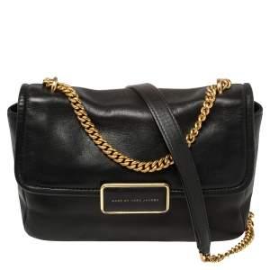 Marc by Marc Jacobs Black Leather Rebel 24 Shoulder Bag