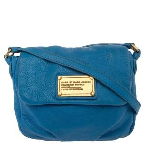 Marc by Marc Jacobs Blue Leather Classic Q Isabelle Crossbody Bag