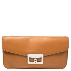 Marc by Marc Jacobs Tan Leather Bianca Envelope Clutch
