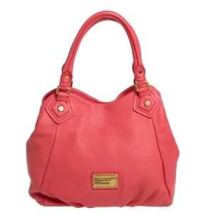 Marc by Marc Jacobs Pink Leather Classic Q Francesca Shoulder Bag