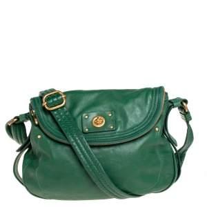 Marc by Marc Jacobs Green Leather Turnlock Natasha Shoulder Bag
