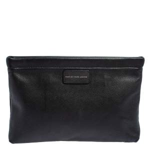 Marc by Marc Jacobs Black Leather Can't Clutch