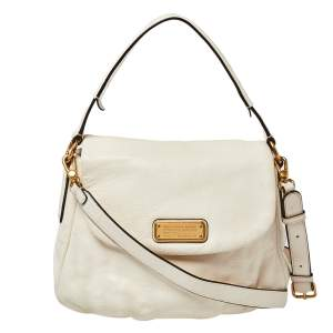 Marc by Marc Jacobs Ivory Leather Classic Q Lil Ukita Top Handle Bag