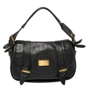 Marc by Marc Jacobs Black Leather Saddlery Sophie Convertible Satchel