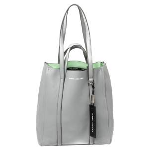 Marc Jacobs Grey Pebbled Leather The Tag Tote