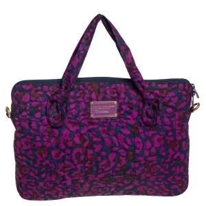 Marc by Marc Jacobs Purple/Blue Nylon Laptop Bag