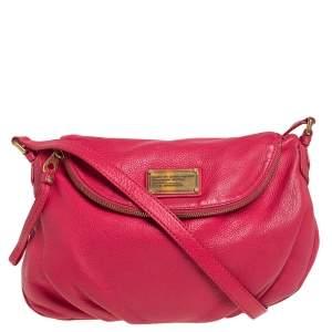 Marc by Marc Jacobs Hot Pink Leather Classic Q Natasha Shoulder Bag