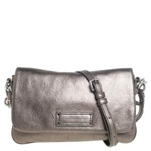 Marc by Marc Jacobs Metallic Leather Percy Flap Crossbody Bag