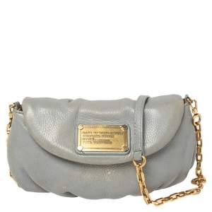 Marc By Marc Jacobs Grey Leather Classic Q Karlie Crossbody Bag