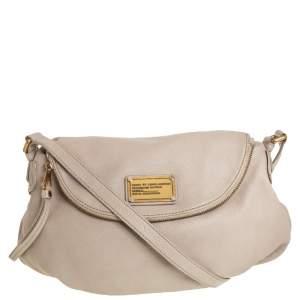 Marc by Marc Jacobs Beige Leather Classic Q Natasha Crossbody Bag