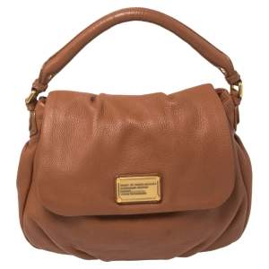 Marc by Marc Jacobs Brown Soft Leather Classic Q Lil Ukita Top Handle Bag