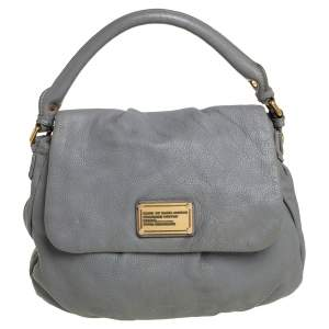 Marc by Marc Jacobs Grey Soft Leather Classic Q Lil Ukita Top Handle Bag