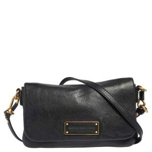 Marc by Marc Jacobs Black Leather Too Hot To Handle Percy Crossbody Bag